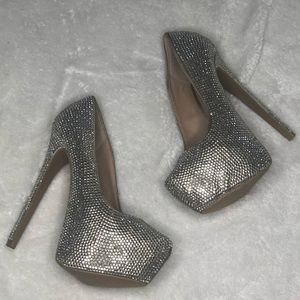 Steve Madden Dandy 5.5 Heels Bling Pumps Disco